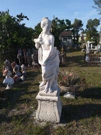 Statue on 19th Century Pedestal