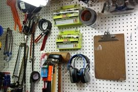 Shop Wall Full of Misc Tools