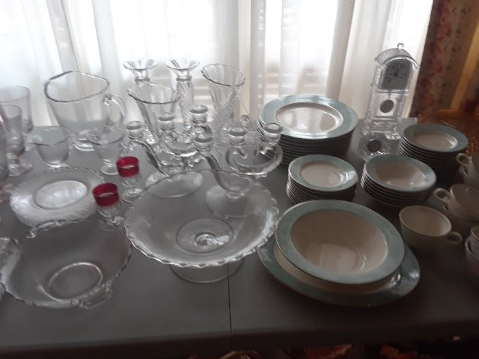Chrystal and dishes