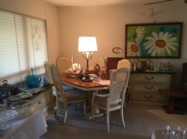 A closer look at the French Provincial Table and chairs