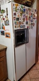 Please ASK to view as not in main staging areas ----- side by side refrigerator