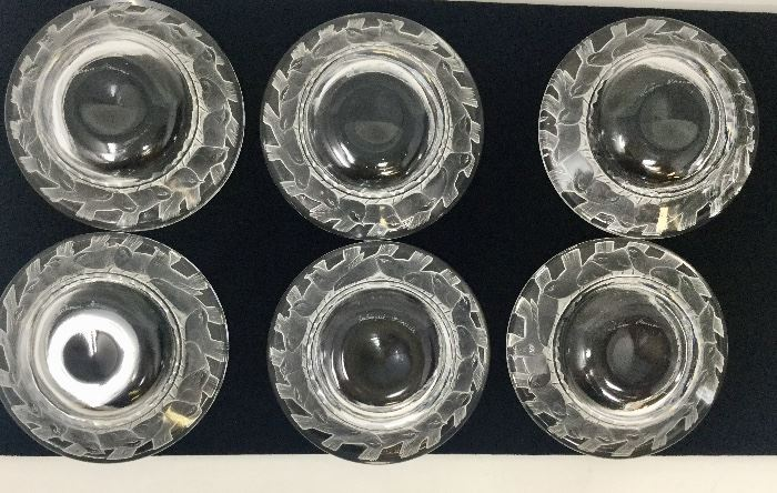 LALIQUE IRENE PIN OR NUT DISHES