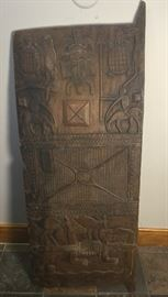 "ANTIQUE AFRICAN CARVED ""GRANARY DOOR"""