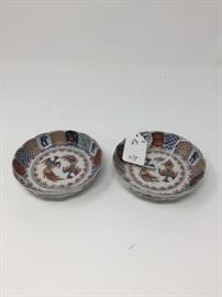 PAIR OF ANTIQUE CHINESE FAMILLE VERTE SMALL DISHES