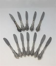 12 GORHAM LA SCALA STERLING KNIVES