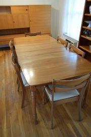 Vintage Danish Modern Dining Table & Chairs https://ctbids.com/#!/description/share/119111