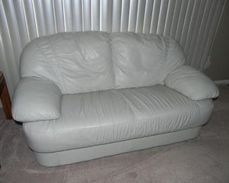 NICE CLEAN WHITE SOFA & LOVESEAT WITH MATCHING CHAIR AND OTTOMAN