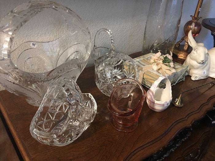 Cut Glass Baskets