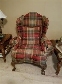 Pair of very nice plaid chairs