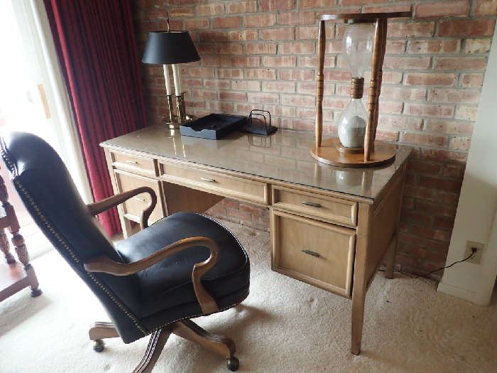 Thomasville Desk. Bradington Young Office Chair.