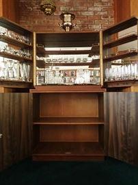 Schembri & Sons Bar.  Teak. Mirrored.