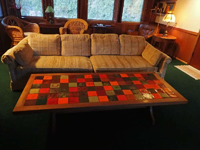 MCM Tiled Coffee Table.