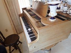 Chickering Piano. Piano Chair.