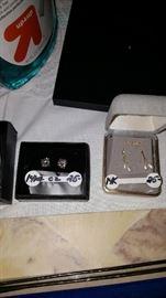 gold & cz earrings