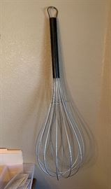 Giant Whisk Wall Decor	38in Long