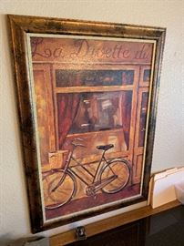 Bicycle/Cafe Decor Painting