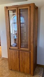 Oak Display Cabinet	76x33x20in	HxWxD