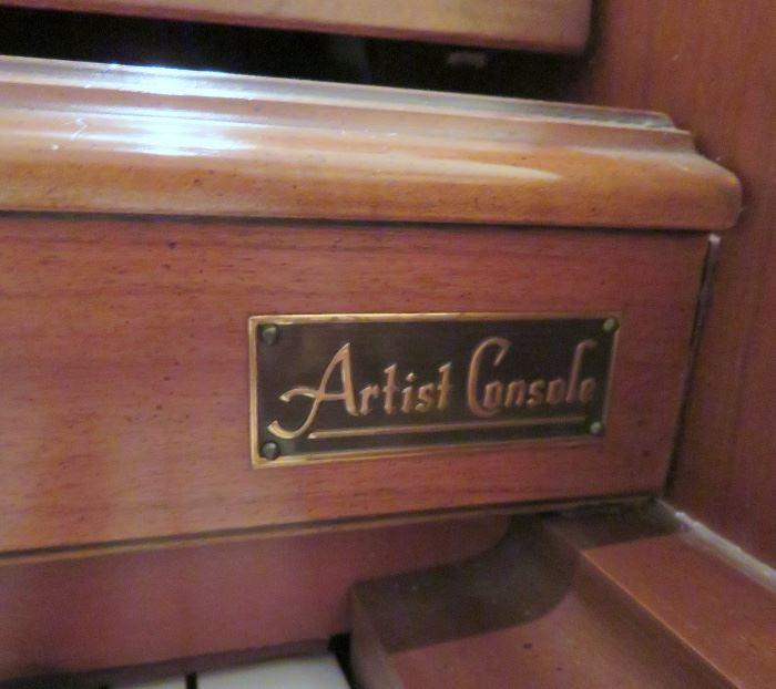 "KIMBALL ""ARTIST CONSOLE"" PIANO"