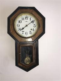 Antique Trade Mark Schoolhouse wall clock