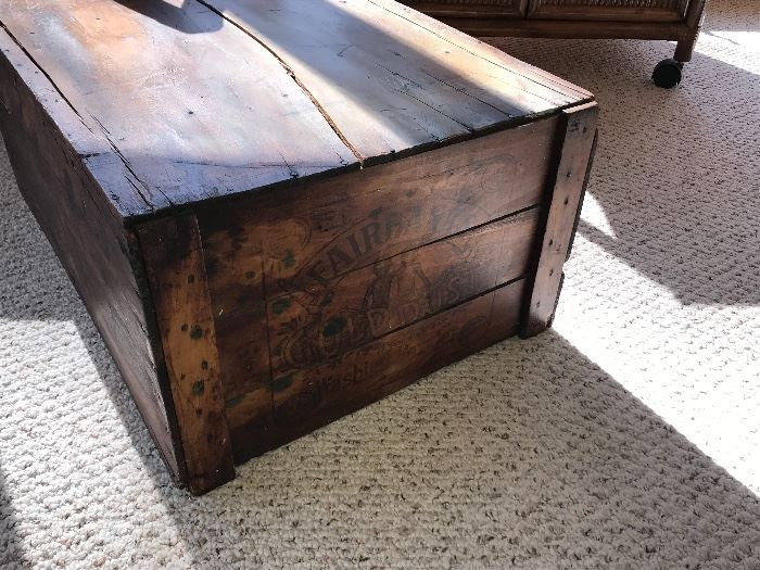 Antique trunk/table