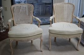 Two decorative chairs.