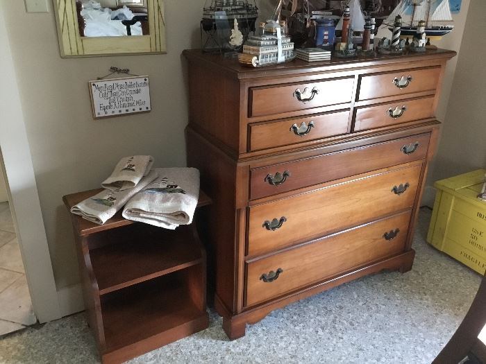Mid Century Chest of Drawers and Night Stand