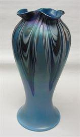 Art Nouveau Czech glass vase