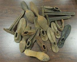 Antique cast iron shore cobblers forms