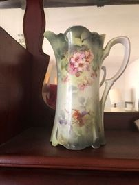painted porcelain pitcher. Fairies used this to wet the lips of creekside maidens