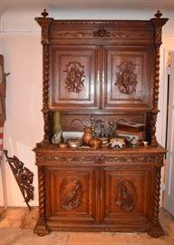 Huge 19th Century Jacobean Carved Oak Sideboard