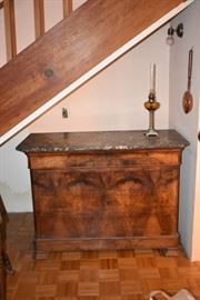 Louis Philippe marble topped chest