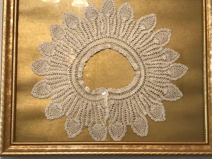 framed crochet collar