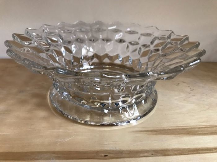 """Fostoria """"American"""" low punch bowl stand"""