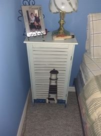 """Painted side cabinet about 30"""" tall $40"""