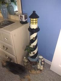 Light house resin statue  Measures about 3 ft tall $60