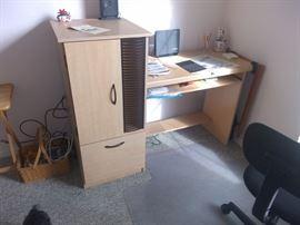 Particle board desk $30