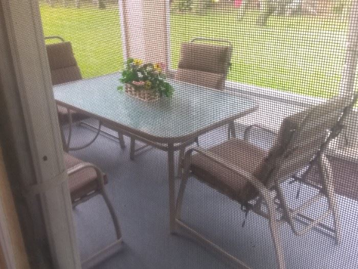 Patio table and chairs $75