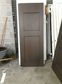 30x80 Couple of Brown Barn Doors.