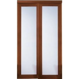 TRUporte 48 in. x 80 in. 2000 Series Cherry 1Lite ...