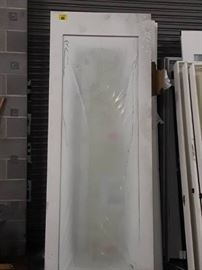 White Frosted Glass Door