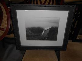 Black Frame with BW Print