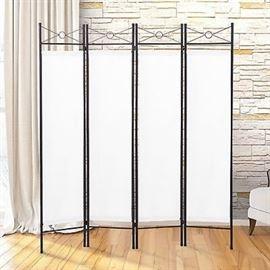 Gojo Oasis 4 Panel Folding Room Divider Privacy Sc ...