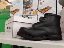 Size 13D Black Bob Barker Steel Toe Boots