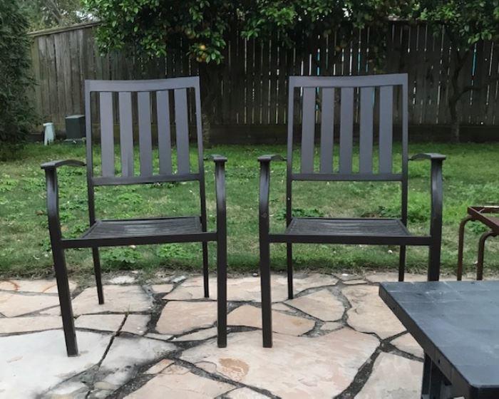 Pair of Aluminum Patio Chairs