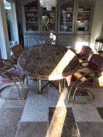 """2 1/2"""" Thick Slab Oval Dining Table"""