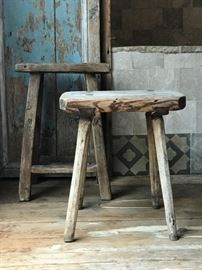 Antique Farm Stools