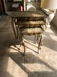 Vintage Italian Nesting Tables- Florentine