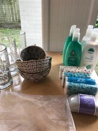 Ceramics, glassware, personal care and hygiene items