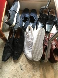 Men's shoes, mostly size 12, some 11.5, 12.5, 13