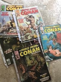 Vintage Conan Comic Books